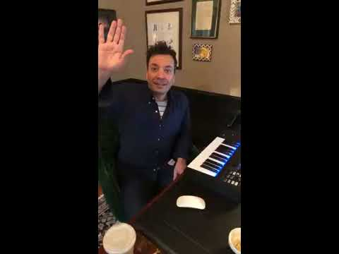 Jimmy Fallon Shows His Piano Progress and His Fishes