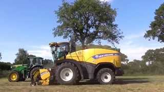 new holland fr 600 feldhcksler am gras hckseln 2014 mit fendt john deere sound