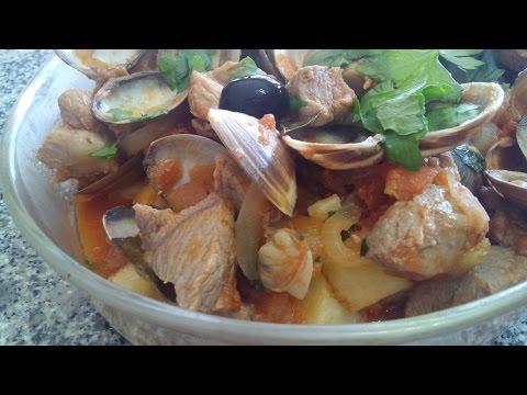 Pork with Clams (Alentejana Style) - Portuguese Recipes