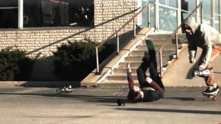 Slow motion skateboarding slams / bails / falls (1000 fps)