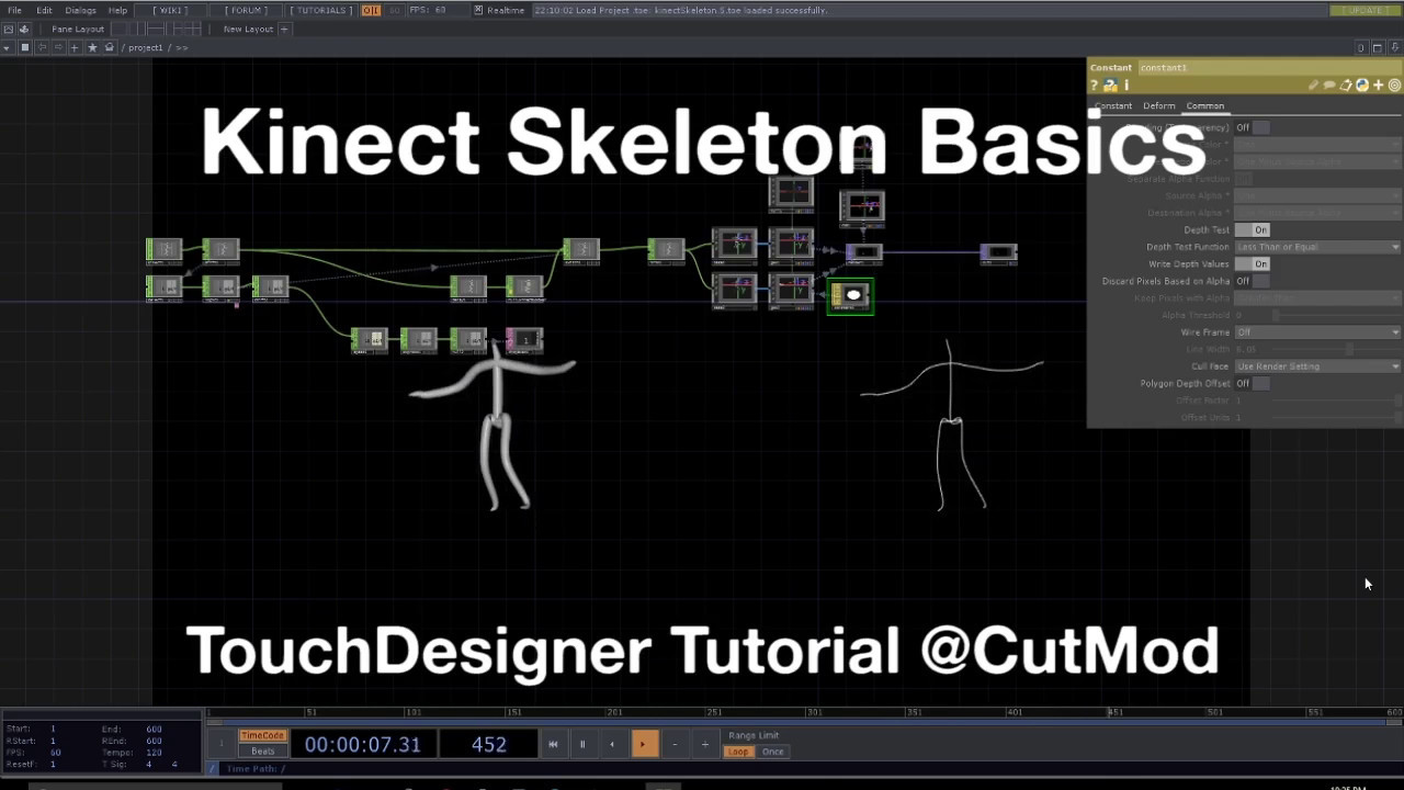 Kinect Skeleton Basics - TouchDesigner Tutorial