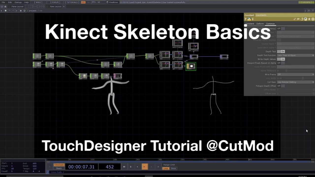 Kinect Skeleton Basics - TouchDesigner Tutorial