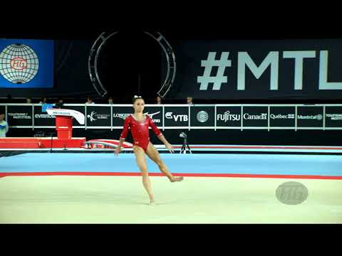 SMITH Ragan (USA) - 2017 Artistic Worlds, Montréal (CAN) - Qualifications Floor Exercise