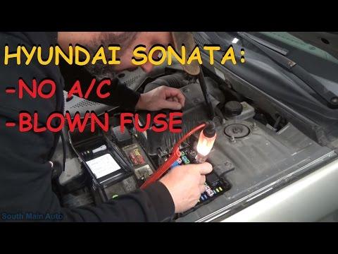 Hyundai Sonata - No A/C Compressor Clutch Operation