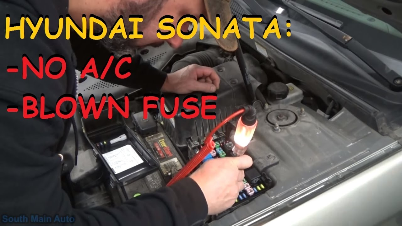 Hyundai Sonata No A C Compressor Clutch Operation Youtube