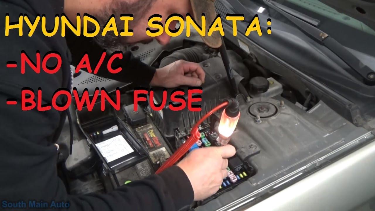 hyundai sonata no a c compressor clutch operation [ 1280 x 720 Pixel ]
