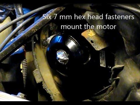 How To Replace The Blower Motor On A GM Grand Am, Skylark, Somerset, Calais, Achieva