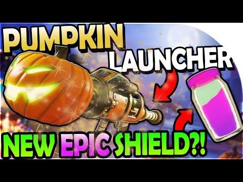 HALLOWEEN UPDATE + PUMPKIN LAUNCHER + NEW EPIC SHIELD?! - Fortnite Battle Royale Gameplay Update 1.8