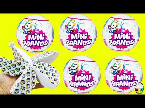 NEW ZURU 5 Surprise Mini Brands Balls Store Brand Mini Toys Cupcake Kids Club