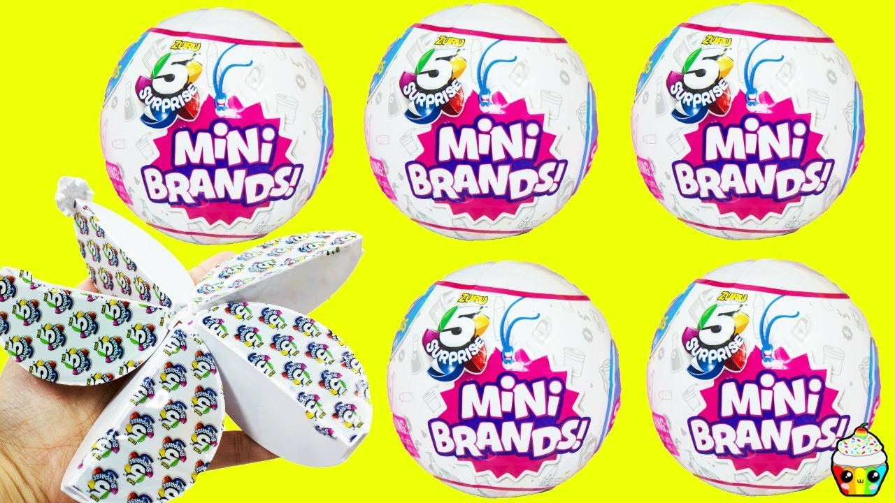 New Zuru 5 Surprise Mini Brands Balls Store Brand Mini Toys Cupcake