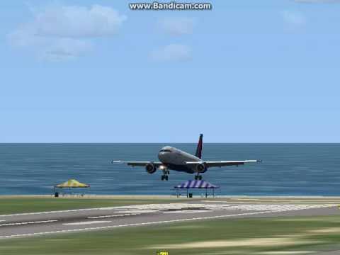 crap a320 st marteen landing