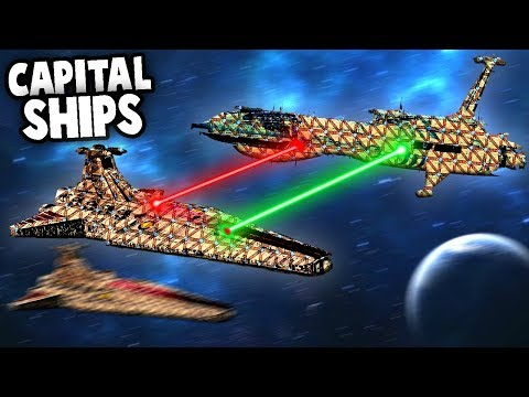 STAR WARS Space Battles - NO Gravity CAPITAL SHIPS (Forts Star Wars Mods)