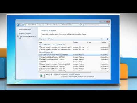 How to uninstall Windows® 7 Service Pack 1?