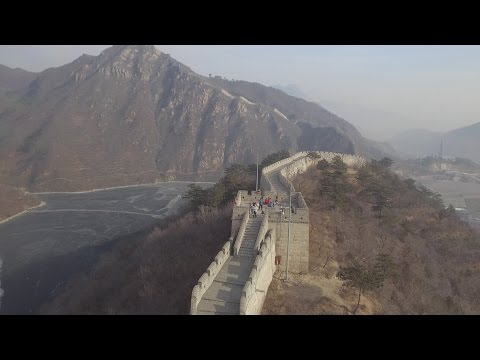 China's Great Wall Amazing Aerial Scenery - China From Above - Lakeside Great Wall 2017 01 01