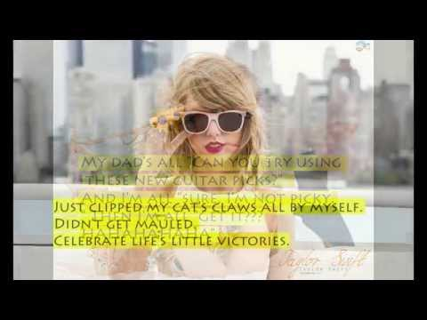Memorable quotes of Taylor Swift
