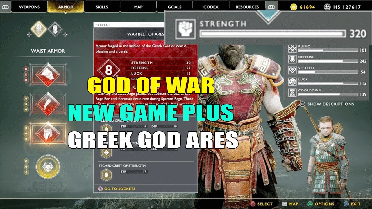 God Of War New Game Plus - All Armor List & Their Stats ...