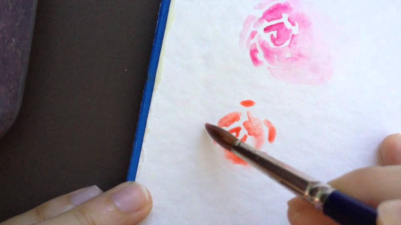How to paint loose rose in watercolor youtube for How to paint a rose in watercolor step by step