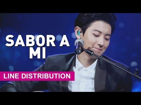 [Line Distribution] EXO-K - Sabor A Mi