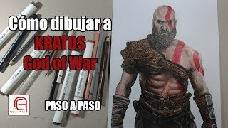 Cómo dibujar a KRATOS God of War - How to draw KRATOS God of War