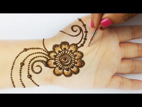 Shaded Mehndi Design - Beautiful Mehndi Design for Hands - आसान अरेबिक मेहँदी डिज़ाइन लगाना सीखे