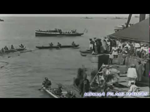 HAWAIIAN HISTORY ON FILM - 1928 CAPT COOK CEREMONY KEALAKEKUA BAY