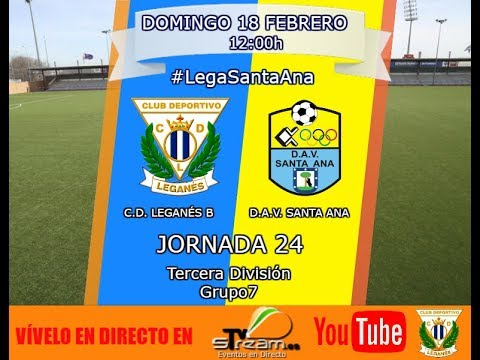 Leganés B vs Santa Ana. Jornada 24 Tercera División. Grupo VII