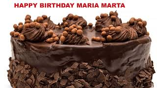 MariaMarta   Cakes Pasteles - Happy Birthday