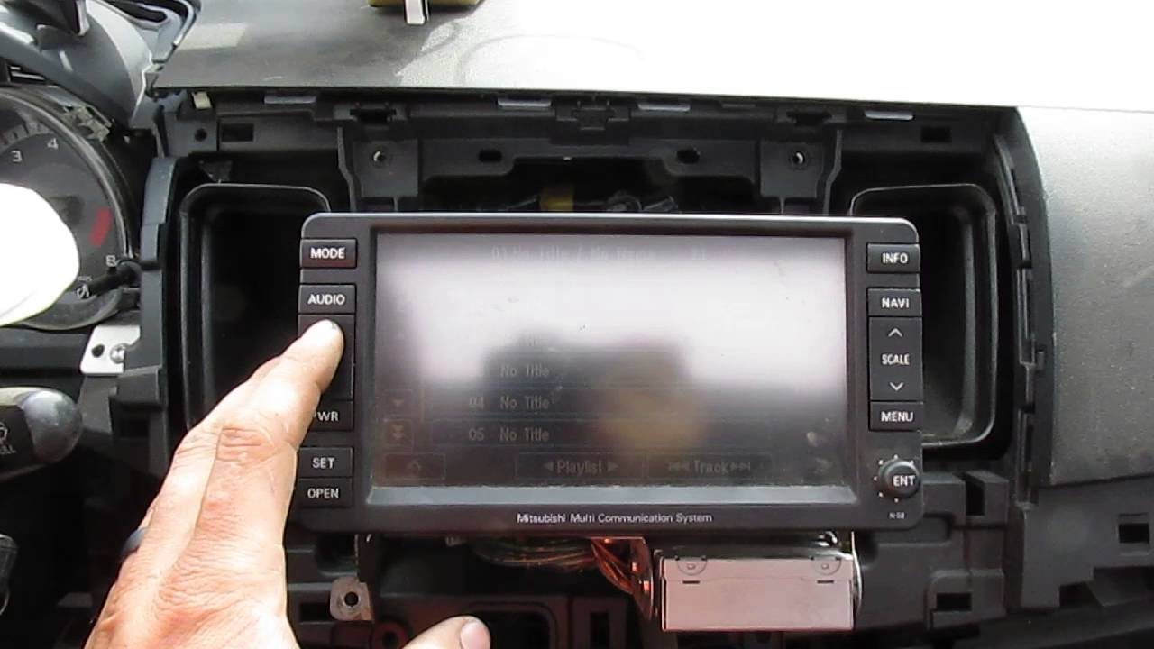 2008 Mitsubishi Lancer Multi Communication System - YouTube