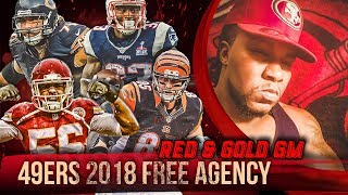 Live! 49ers Free Agency 2018 - Ronbo Sports Red & Gold GM EP 6