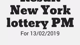 13 /02/2019 Result /Draw new york lottery PM Resultado.Win/Gagnar /gagner