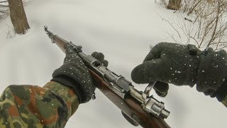 Shooting the Kar98k from Battlefield 5 in real life