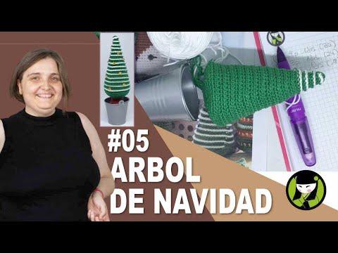 ARBOL DE NAVIDAD TEJIDO A CROCHET 5 amigurumis de navidad
