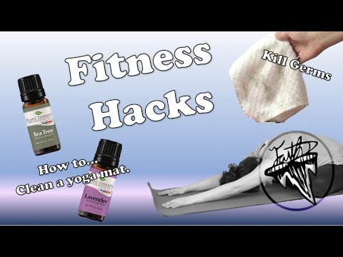 5 Fitness Cleaning Hacks | How to clean a yoga mat