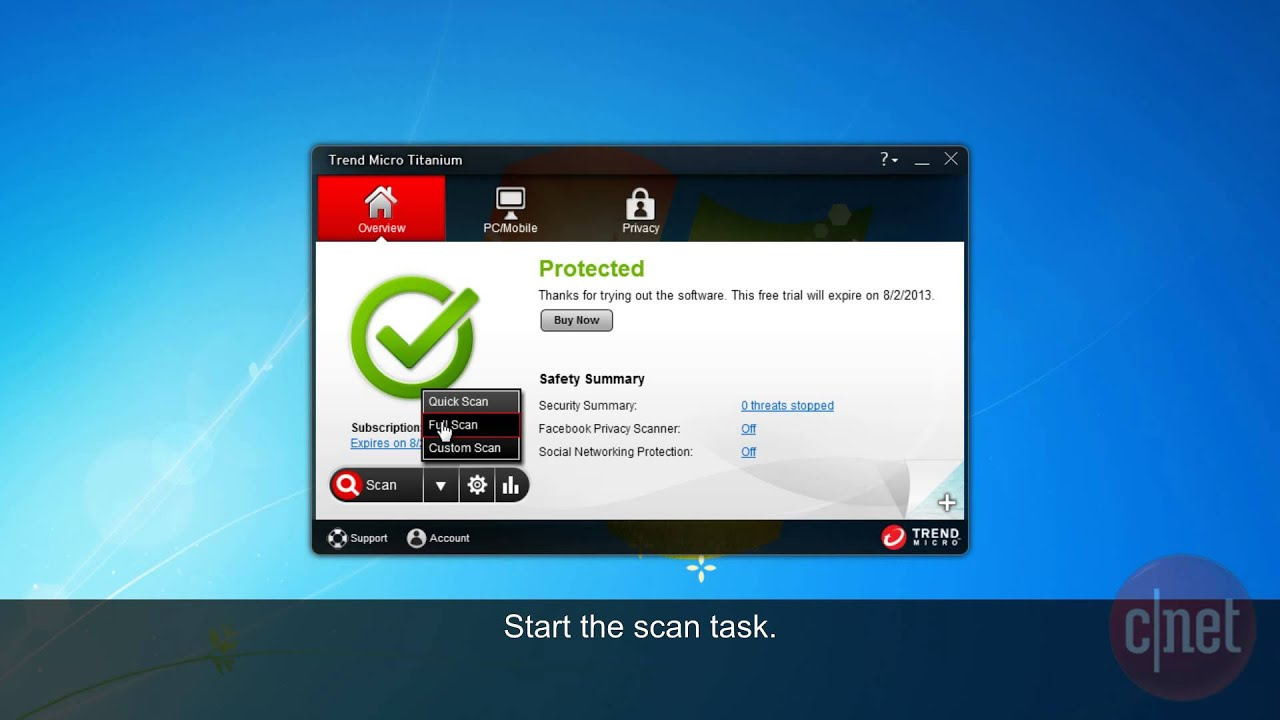 Trend Micro Titanium AntiVirus Plus - Protect your PC from viruses -  Download Video Previews