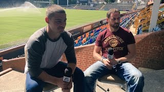 Ex SAS Sergeant Colin Machlachlan is interviewed by Stevie Ward of Leeds Rhinos and Mantality