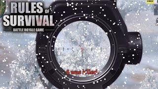 I AM THE SNOW SNIPER! Rules of Survival PC Gameplay