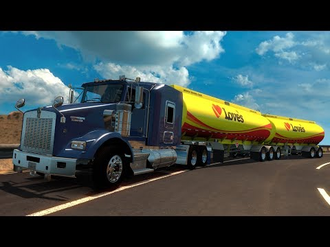 Kenworth T800 Doble Cisterna de Diesel | Cruzando el muro de Trump | Mapa México
