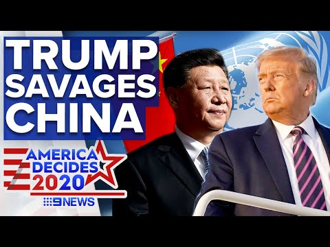 Trump's United Nations speech: 'China must be held accountable for COVID-19' | 9 News Australia