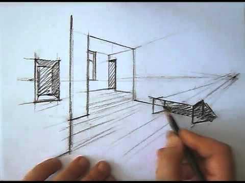 Phương pháp vẽ phối cảnh Kiến Trúc 2 điểm tụ -