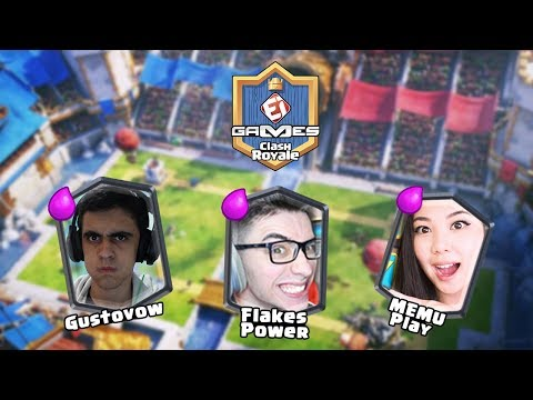 MEMU PLAY x ROYALE NEWS e GUSTOVOW x FLAKES POWER – COPA EI GAMES DE CLASH ROYALE!