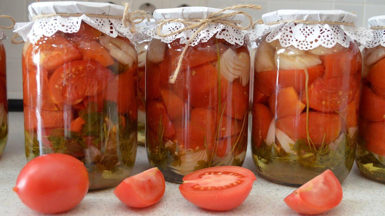 Простые салаты из помидоров на зиму