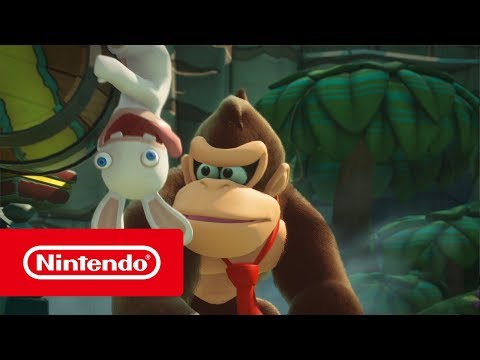 Mario + Rabbids Kingdom Battle - Donkey Kong Adventure - E3 2018 Trailer