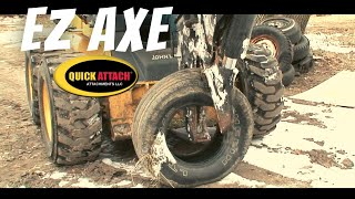 Quick Attach® EZ Axe™ Skid Steer Tree Shear Attachment with Manual Rotation