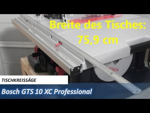 unboxing bosch gts 10 xc professional mit bema ung youtube. Black Bedroom Furniture Sets. Home Design Ideas