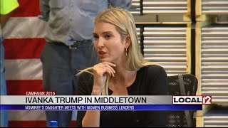 Ivanka Trump visits local factory