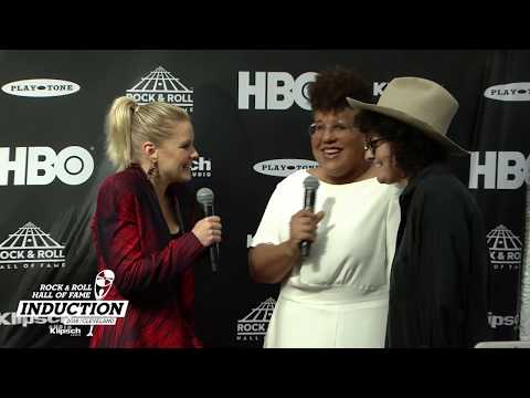 Brittany Howard of Alabama Shakes on the Rock & Roll Hall of Fame 2018 Induction Ceremony Red Carpet