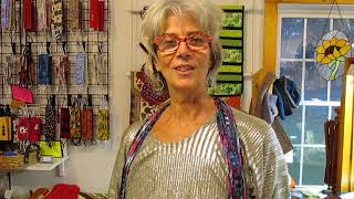 Jane Arey introduces the Bohemian Style for her Fiber Necklaces