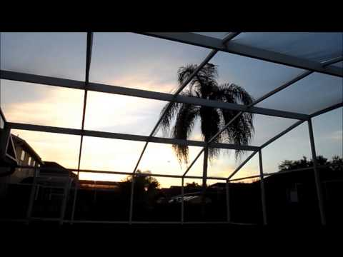 RELAXING 40 MINUTES AMAZING FLORIDA SUNRISE 2013 OVER OUR VILLA