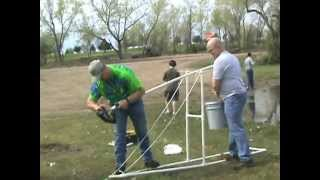 Cub Scouts Launching Vegetables Via Trebuchet