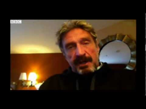 John McAfee interview, Oct 11, 2013 by the BBC